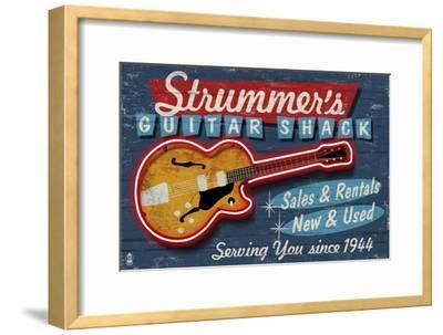 Guitar Shop - Vintage Sign