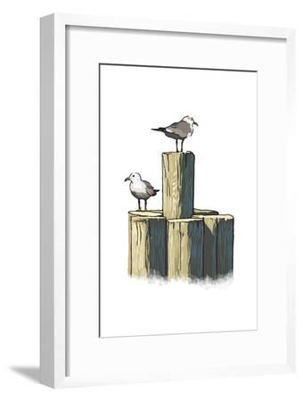 Gulls on Pilings - Icon
