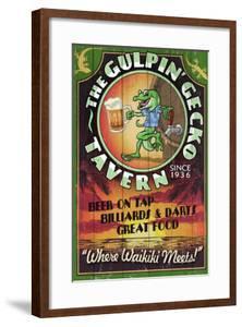 Gulpin' Gecko Tavern - Hawaii by Lantern Press