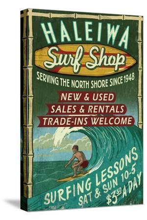 Haleiwa, Hawaii - Surf Shop Vintage Sign