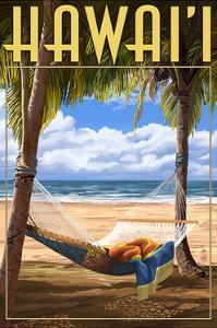 Hammock Scene - Hawaii by Lantern Press