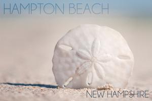 Hampton Beach, New Hampshire - Sand Dollar on Beach by Lantern Press
