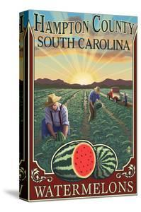 Hampton County, South Carolina - Watermelon Field by Lantern Press