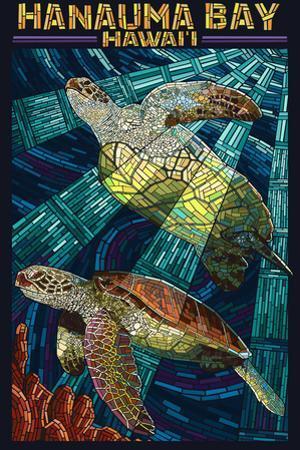Hanauma Bay, Hawai'i - Sea Turtle - Mosaic