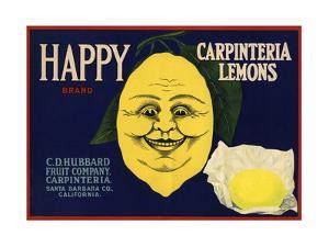 Happy Brand - Carpinteria, California - Citrus Crate Label by Lantern Press
