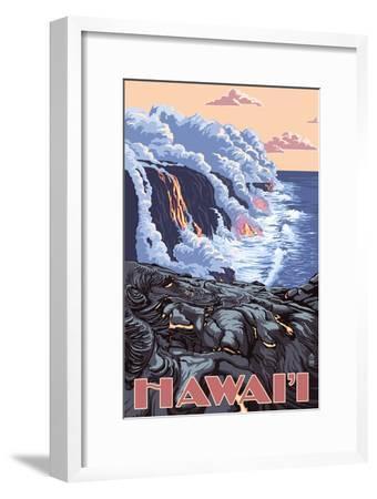 Hawaii - Lava Flow Scene