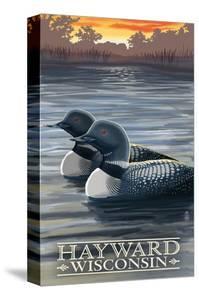 Hayward, Wisconsin - Loons by Lantern Press