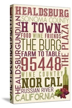 Healdsburg, California - Typography