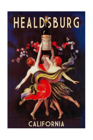 Healdsburg, California - Women Dancing with Wine by Lantern Press