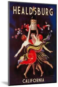Healdsburg, California - Women Dancing with Wine by Lantern Press