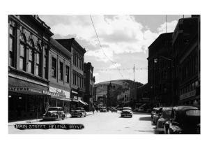 Helena, Montana - Main Street by Lantern Press