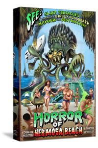 Hermosa Beach, California - Alien Attack Horror by Lantern Press