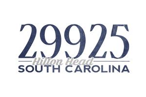 Hilton Head, South Carolina - 29925 Zip Code (Blue) by Lantern Press