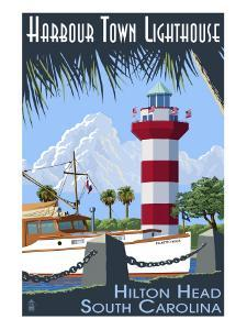 Hilton Head, South Carolina - Harbour Town Lighthouse by Lantern Press