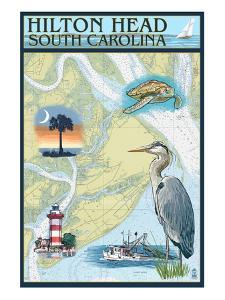 Hilton Head, South Carolina - Nautical Chart by Lantern Press