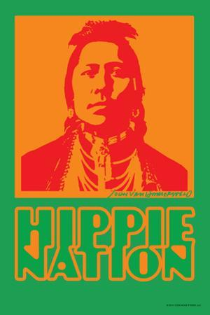 Hippie Nation - John Van Hamersveld Poster Artwork by Lantern Press