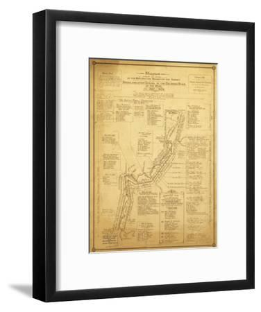 History of Exploration of the Grand Canyon - Panoramic Map