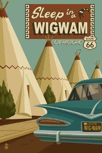 Holbrook, Arizona - Route 66 - Wigwam Village Motel by Lantern Press