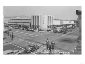 Hollywood, CA View of Radio City and NBC Studios Photograph - Hollywood, CA by Lantern Press