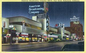 Hollywood, California - ABC Building on Vine Street by Lantern Press