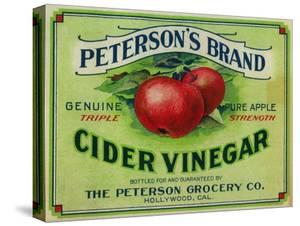 Hollywood, California - Peterson's Cider Vinegar Label by Lantern Press