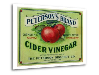 Hollywood, California - Peterson's Cider Vinegar Label