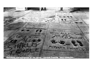Hollywood, California - Sidewalk of Stars by Chinese Theatre by Lantern Press