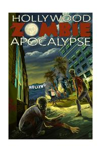 Hollywood, California - Zombie Apocalypse by Lantern Press