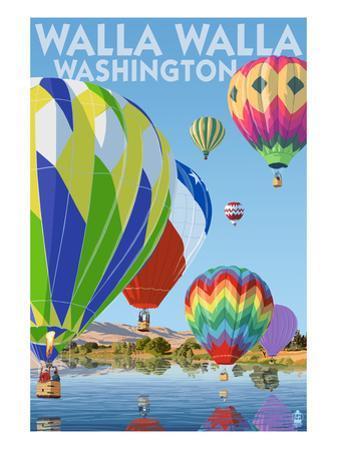 Hot Air Balloons - Walla Walla, Washington by Lantern Press