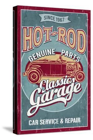 Hot Rod Garage - Classic Cars - Vintage Sign