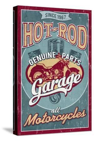 Hot Rod Garage - Motorcycles - Vintage Sign