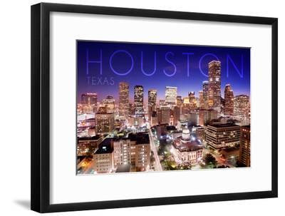 Houston, Texas - Skyline at Night