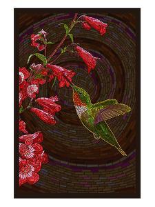 Hummingbird - Paper Mosaic by Lantern Press