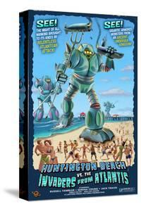 Huntington Beach, California vs. The Atlantean Invaders by Lantern Press