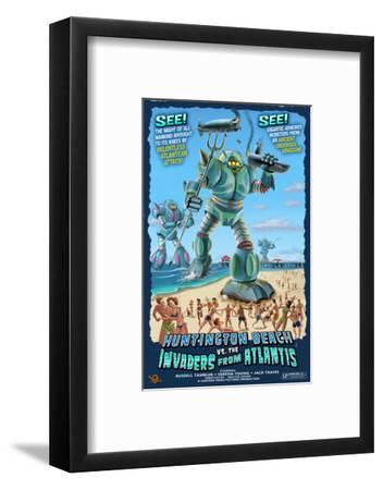 Huntington Beach, California vs. The Atlantean Invaders by Lantern Press
