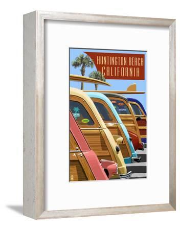 Huntington Beach, California - Woodies Lined Up