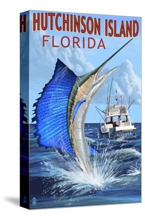 Hutchinson Island , Florida - Sailfish Fishing Scene