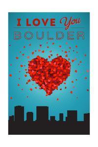 I Love You Boulder, Colorado by Lantern Press