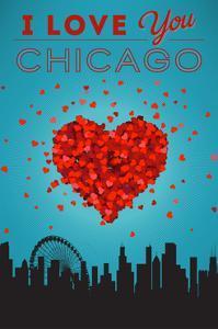 I Love You Chicago, Illinois by Lantern Press