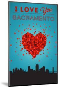 I Love You Sacramento, California by Lantern Press