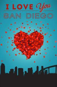 I Love You San Diego, California by Lantern Press