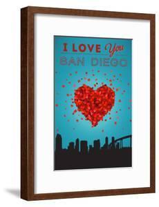 I Love You San Diego, California by Lantern Press