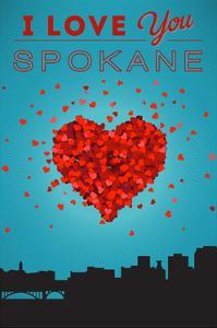I Love You Spokane, Washington by Lantern Press