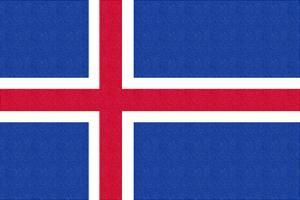 Iceland Country Flag - Letterpress by Lantern Press