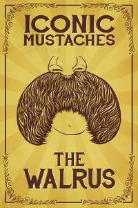 Iconic Mustaches - Walrus by Lantern Press