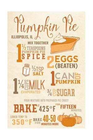 Illiopolis, Illinois - Pumpkin Pie Recipe - Typography
