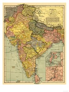Beautiful antique maps artwork for sale posters and prints the india panoramic map gumiabroncs Image collections