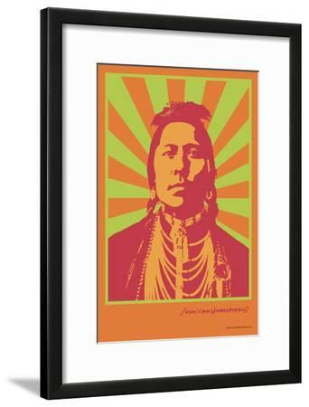 Indian Portrait - Green and Orange - John Van Hamersveld Poster Artwork
