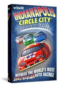 """Indianapolis, Indiana - Indianapolis """"Circle City"""" by Lantern Press"""