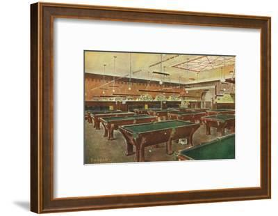 Interior View of the Graney Pool Hall - San Francisco, CA